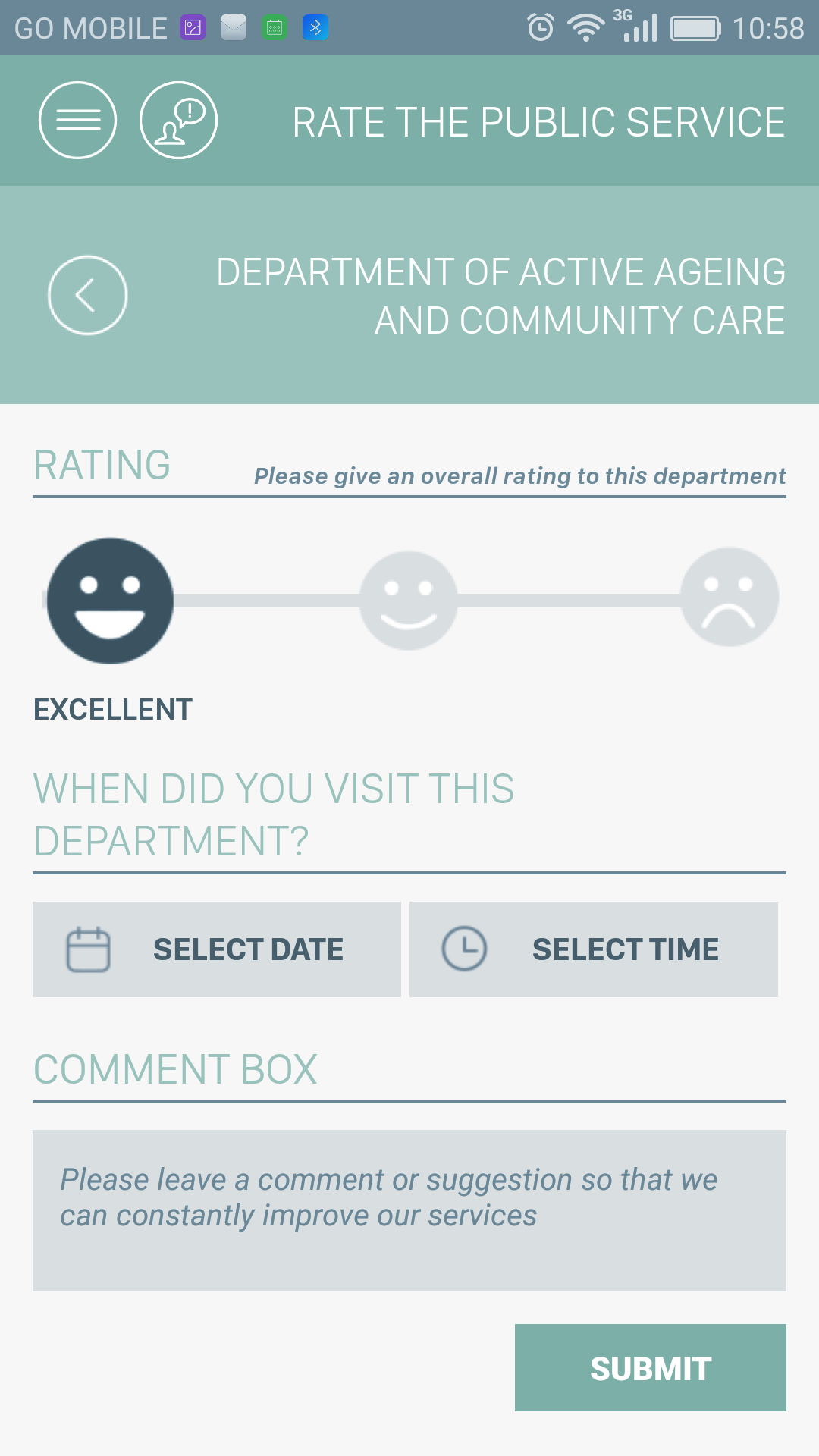 Rating Screen Screenshot